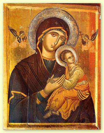 The Mother of God (Theotokos) and the Infant Christ 16th century St Catherines Monastery Mt Sinai