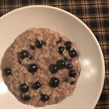 Blueberry Honey Oatmeal